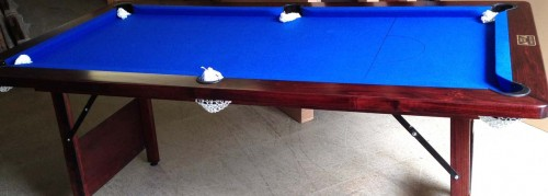 Timber Bed Folding Pool Table