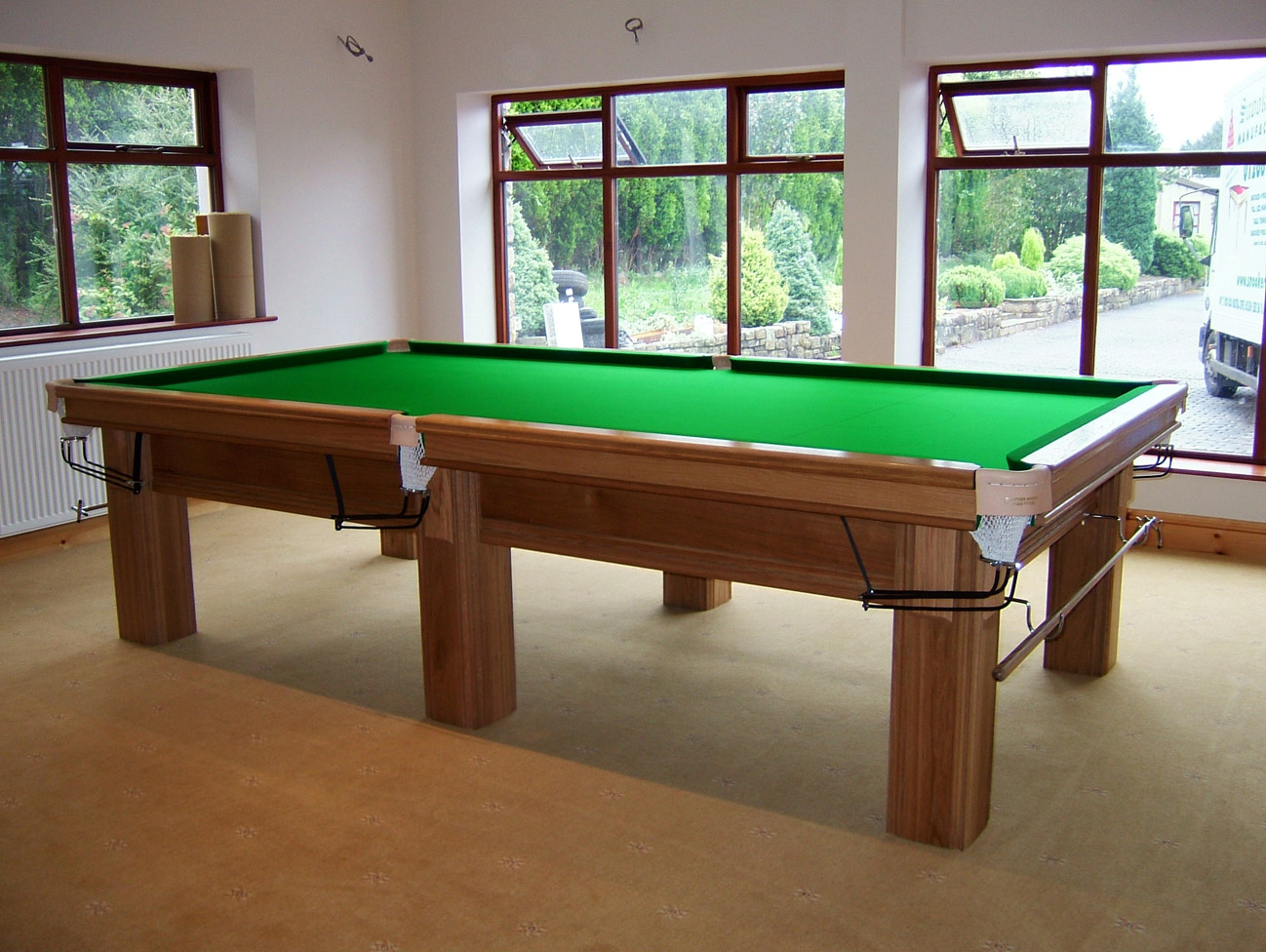 Connoisseur 10 39 x 5 39 snooker table with square legs for 10 x 5 snooker table