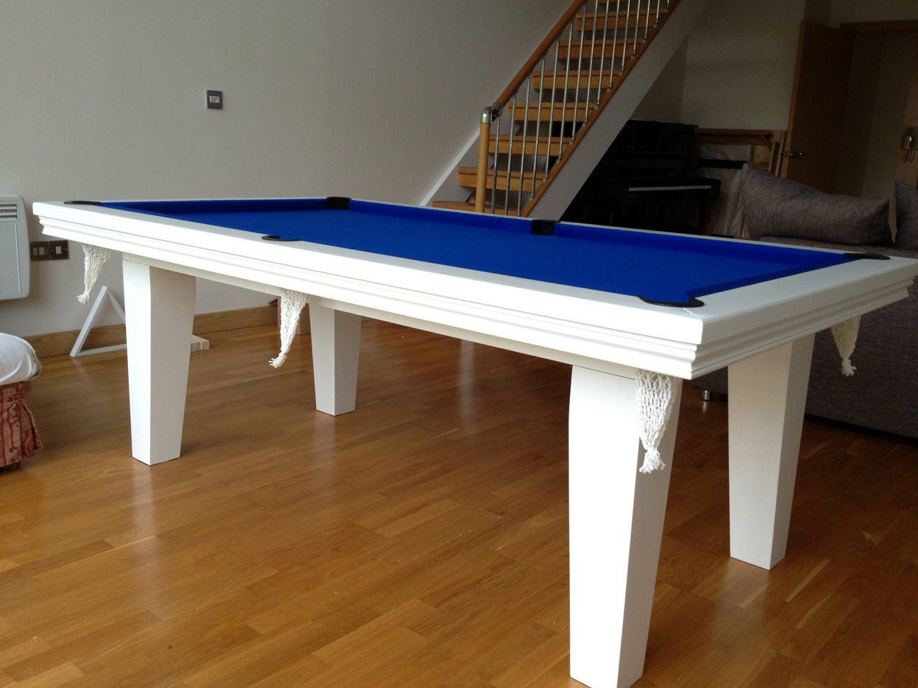 Pool Dining Table In White Blue Snooker Amp Pool Tables