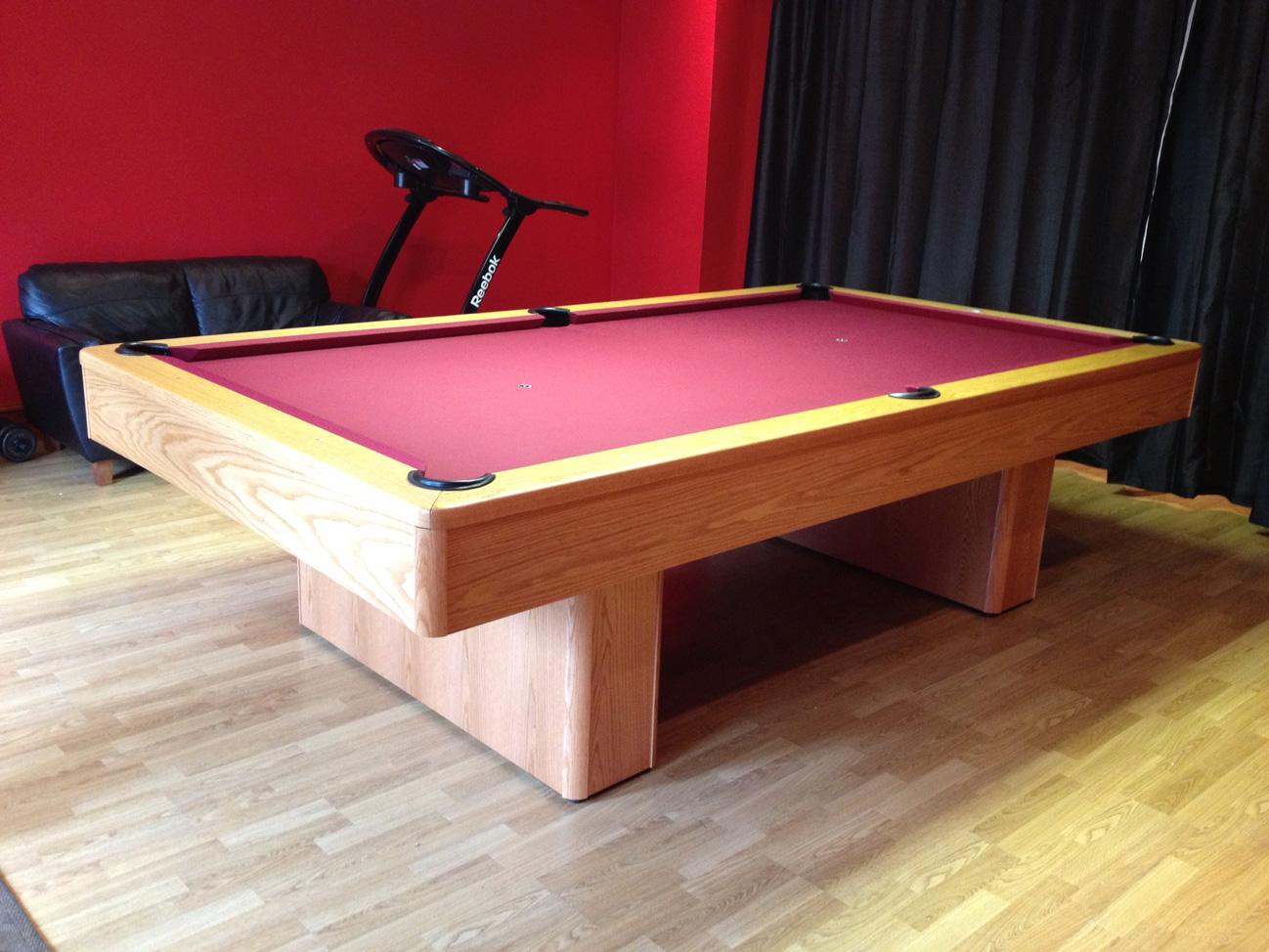 Olhausen Monarch Pool Table In Oak American Pool Table - Monarch pool table