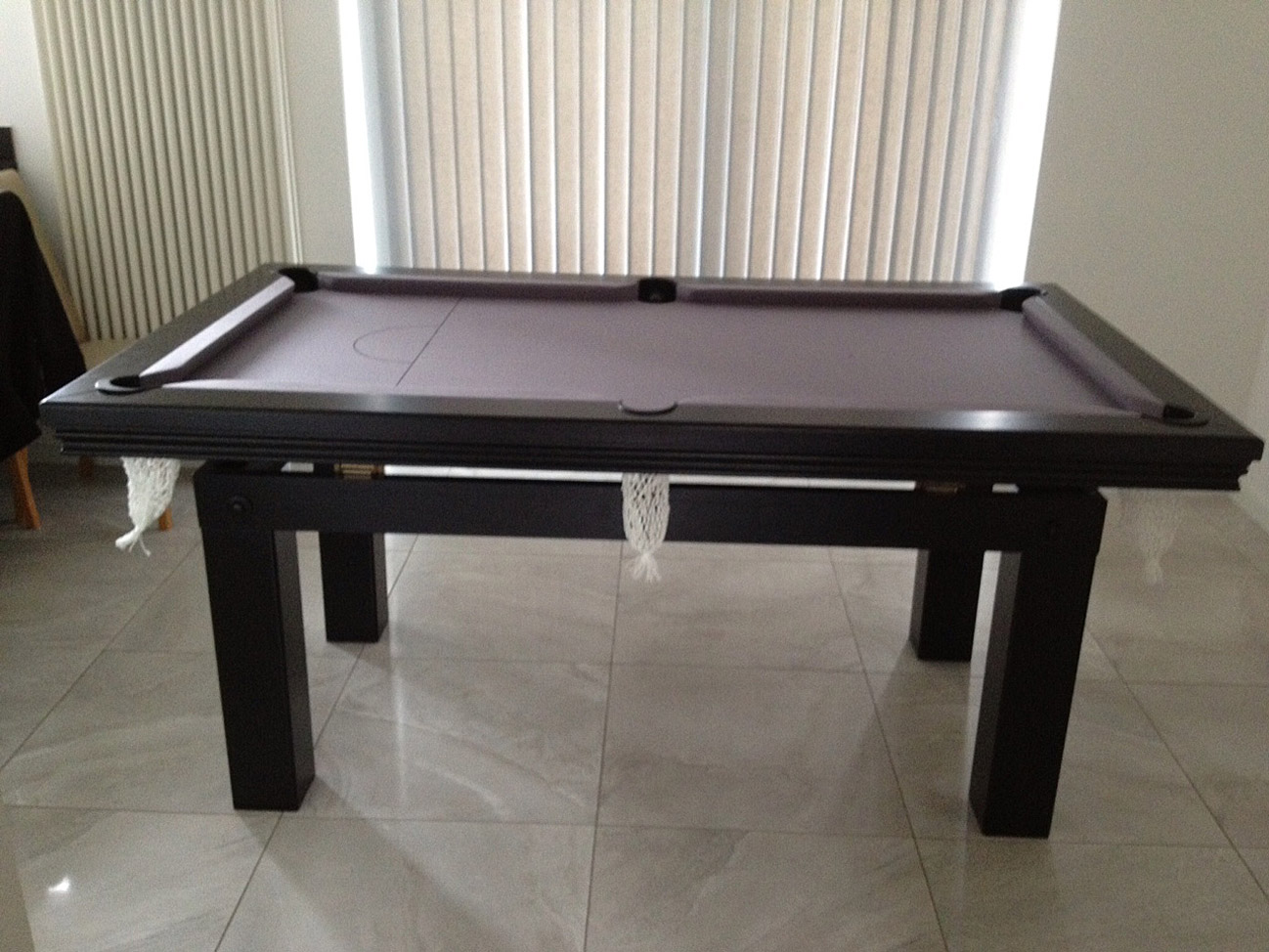 Pool Dining Table in Black Silver Snooker amp Pool Tables : 1602 from www.snookerandpooltablecompany.com size 1298 x 974 jpeg 316kB