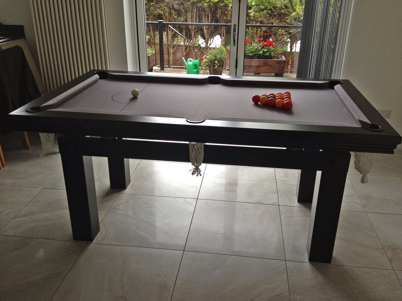 Pool Dining Table In Black Silver Snooker Amp Pool Tables