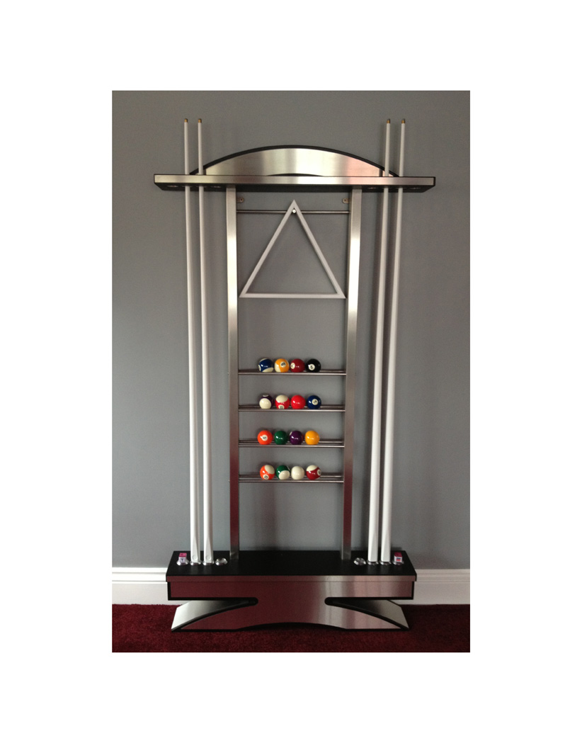 DELUXE WATERFALL CUE RACK - Snooker & Pool Table Company Ltd