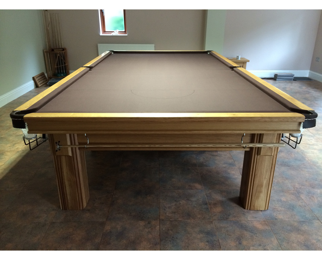 Connoisseur 12 x 6 Snooker Table Oak with Square Legs : 2351 from www.snookerandpooltablecompany.com size 1298 x 1049 jpeg 329kB