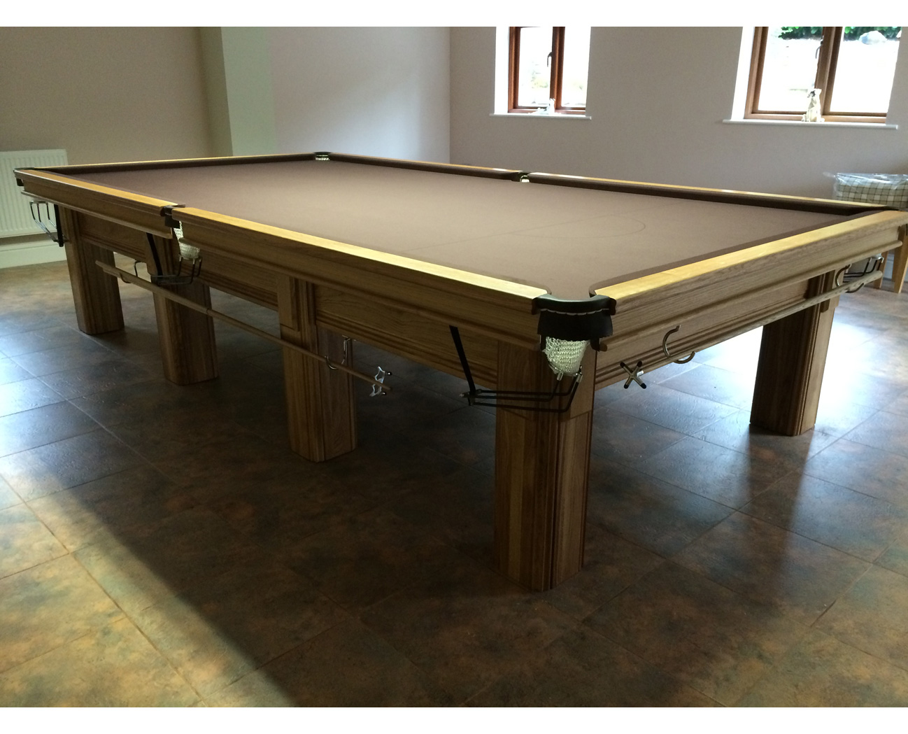 Connoisseur 12 X 6 Snooker Table Oak With Square Legs