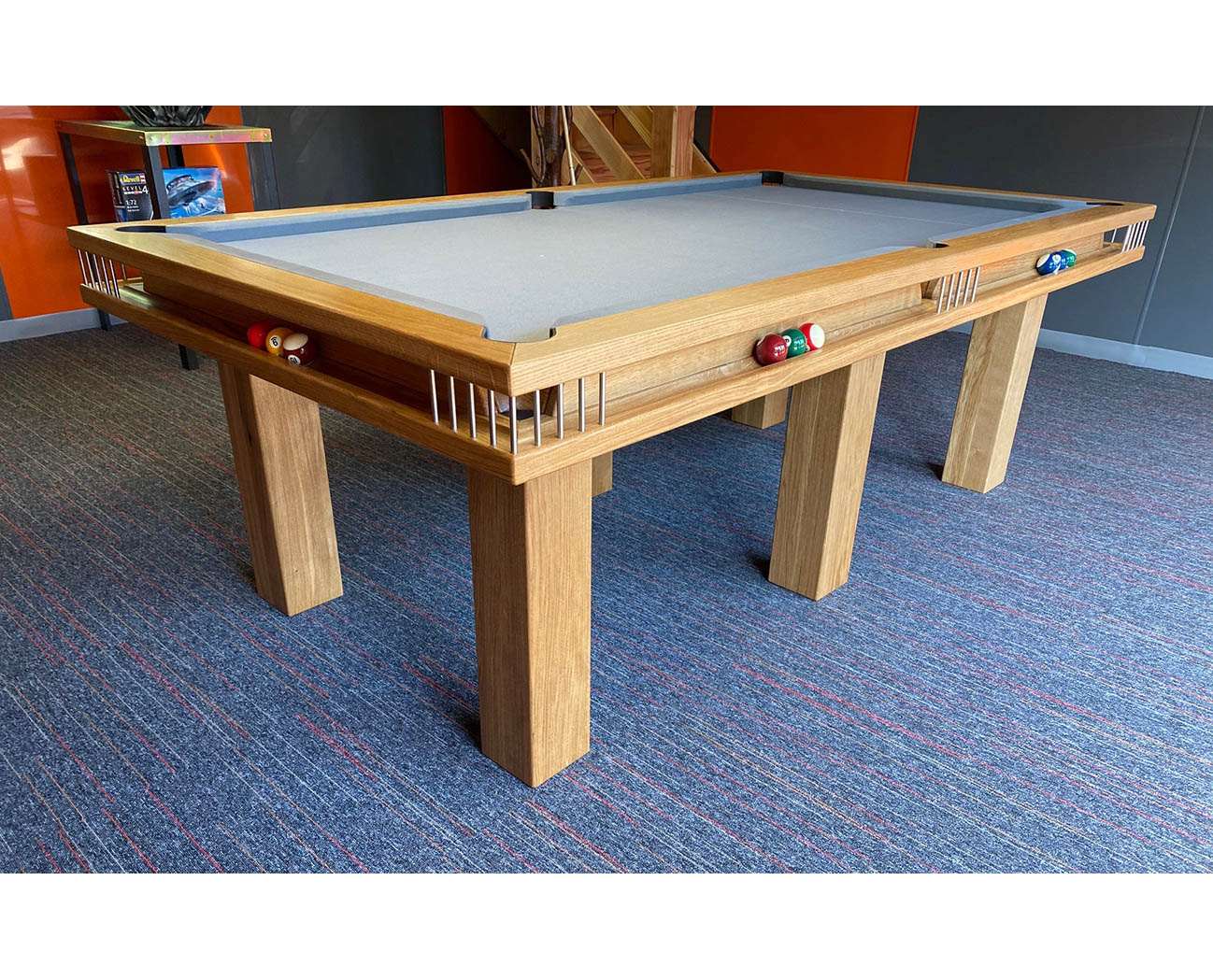 Click To Zoom Gallery UK Pool Table In Oak
