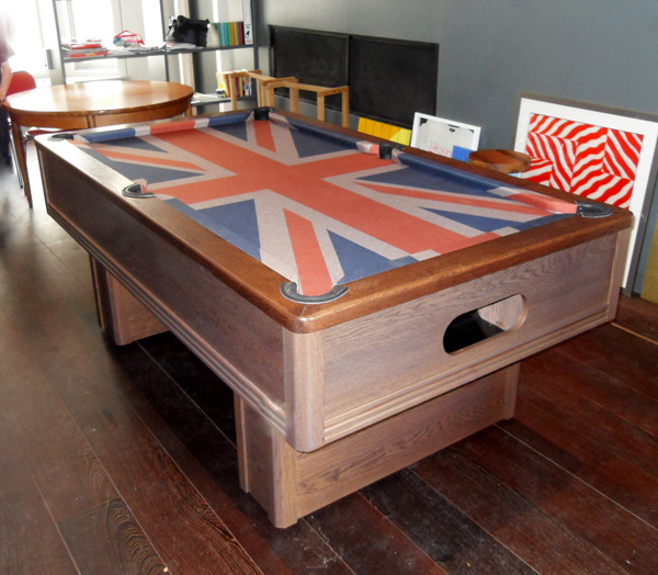 Click To Zoom Emperor UK Pool Table With White Wash Finish