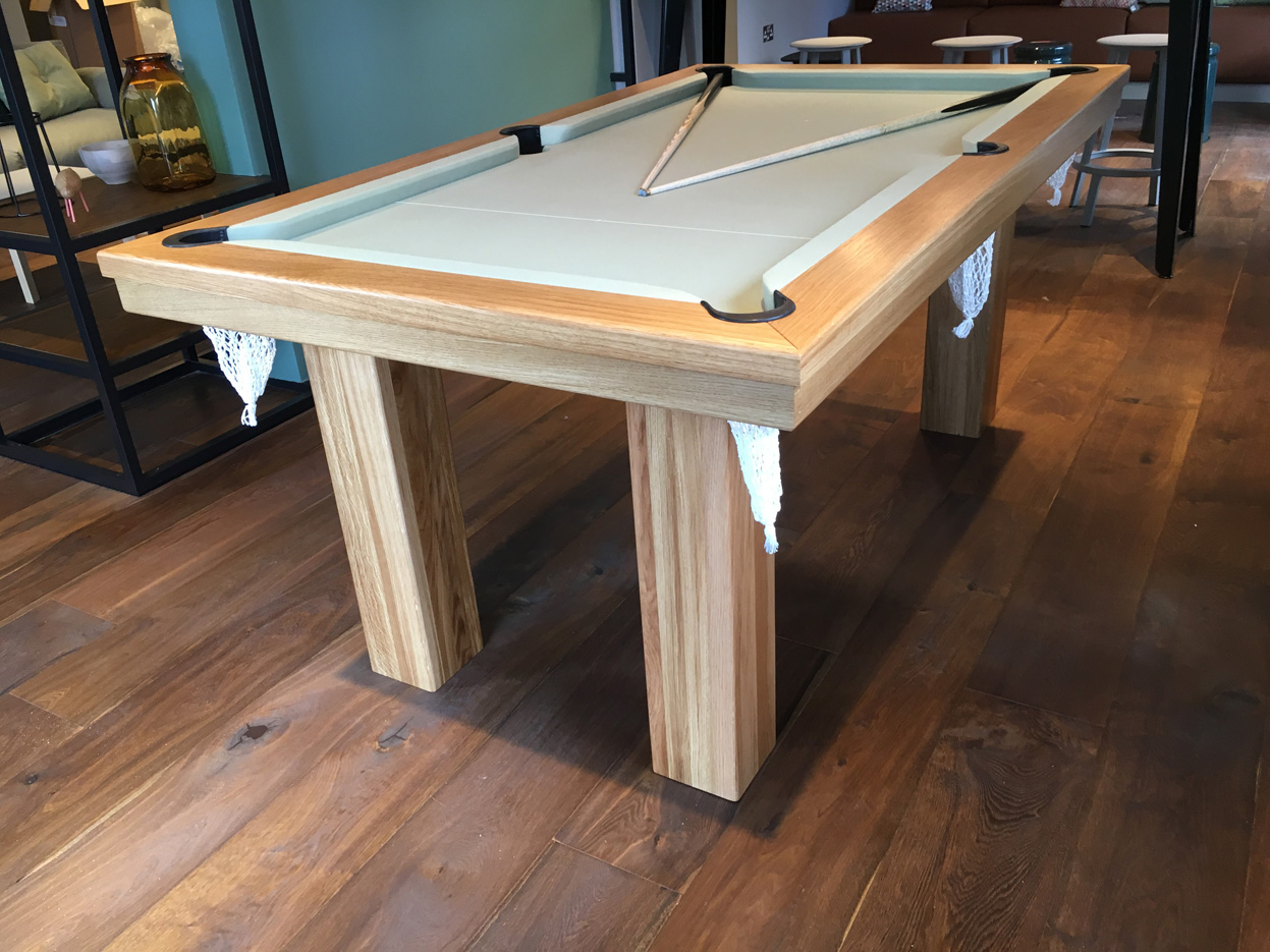 Pool Dining Table In Oak Sage Snooker Amp Pool Tables