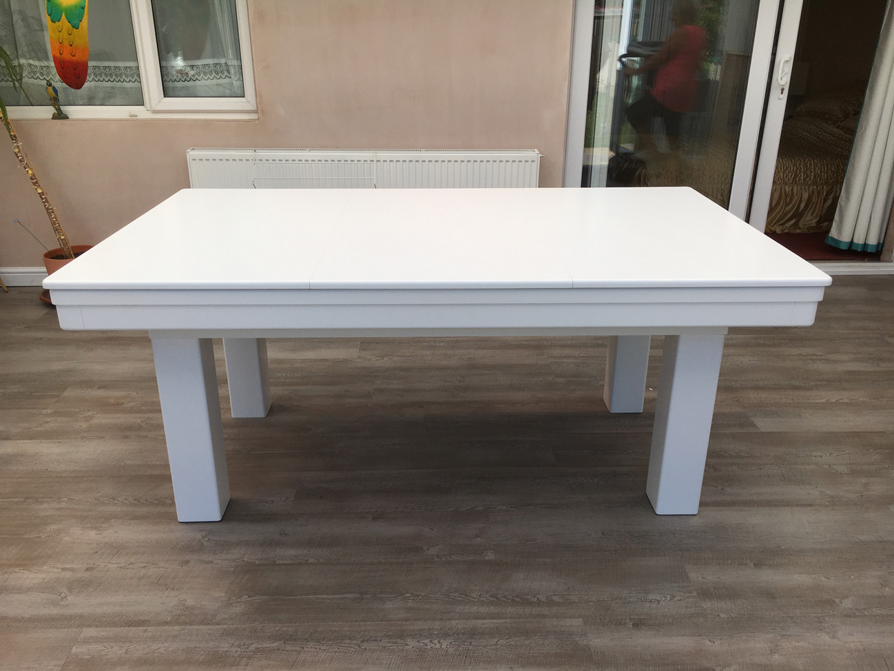 Dining Table 6ft White Silver View