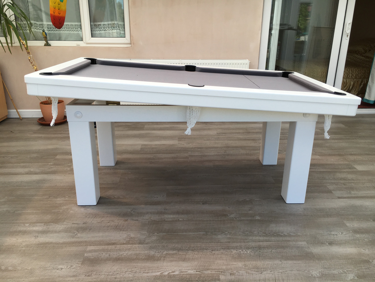 Modern 6ft Pool Dining Table in White Silver Pool  : 3134 from www.snookerandpooltablecompany.com size 1298 x 974 jpeg 378kB