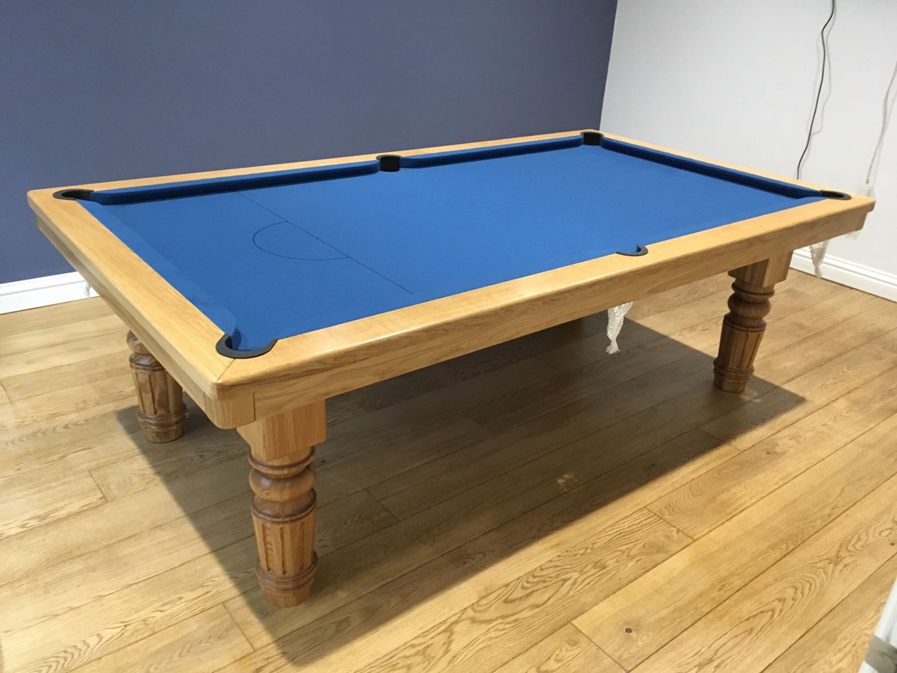 8ft pool dining table in oak blue pool table Pool dining table