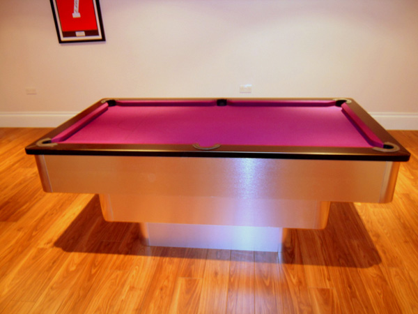 Black Purple Cloth Tiered Contemporary Uk Pool Table