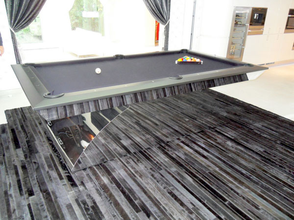 Olhausen Waterfall Special Pool Table In Chrome - Chrome pool table