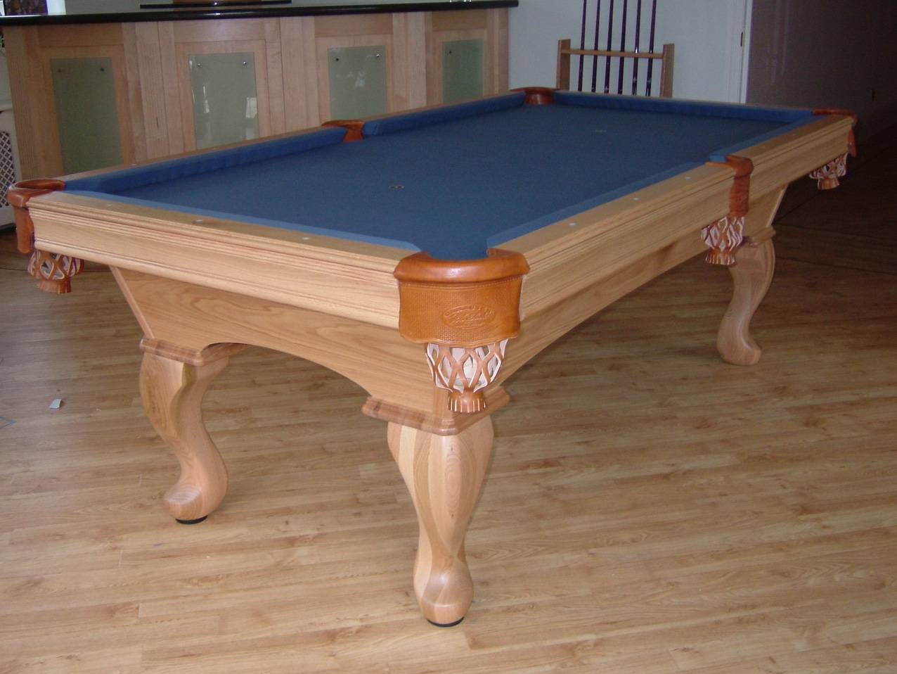 Olhausen Eclipse Pool Table In Oak With Blue Cloth