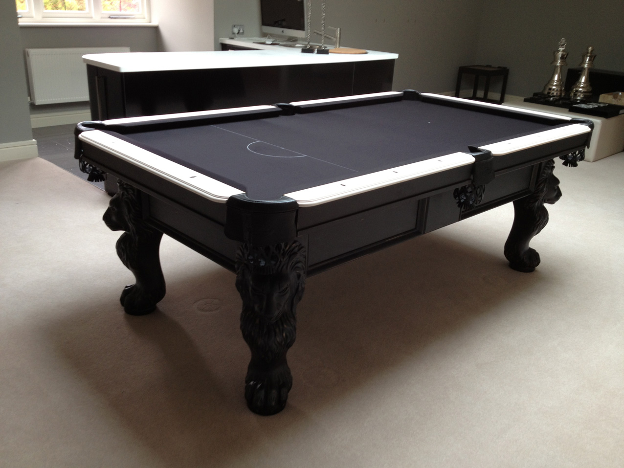 Olhausen st george pool table in black white finish - Pool table images ...