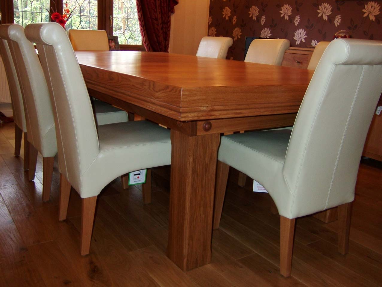 7ft snooker dining table made of oak with blue cloth cover