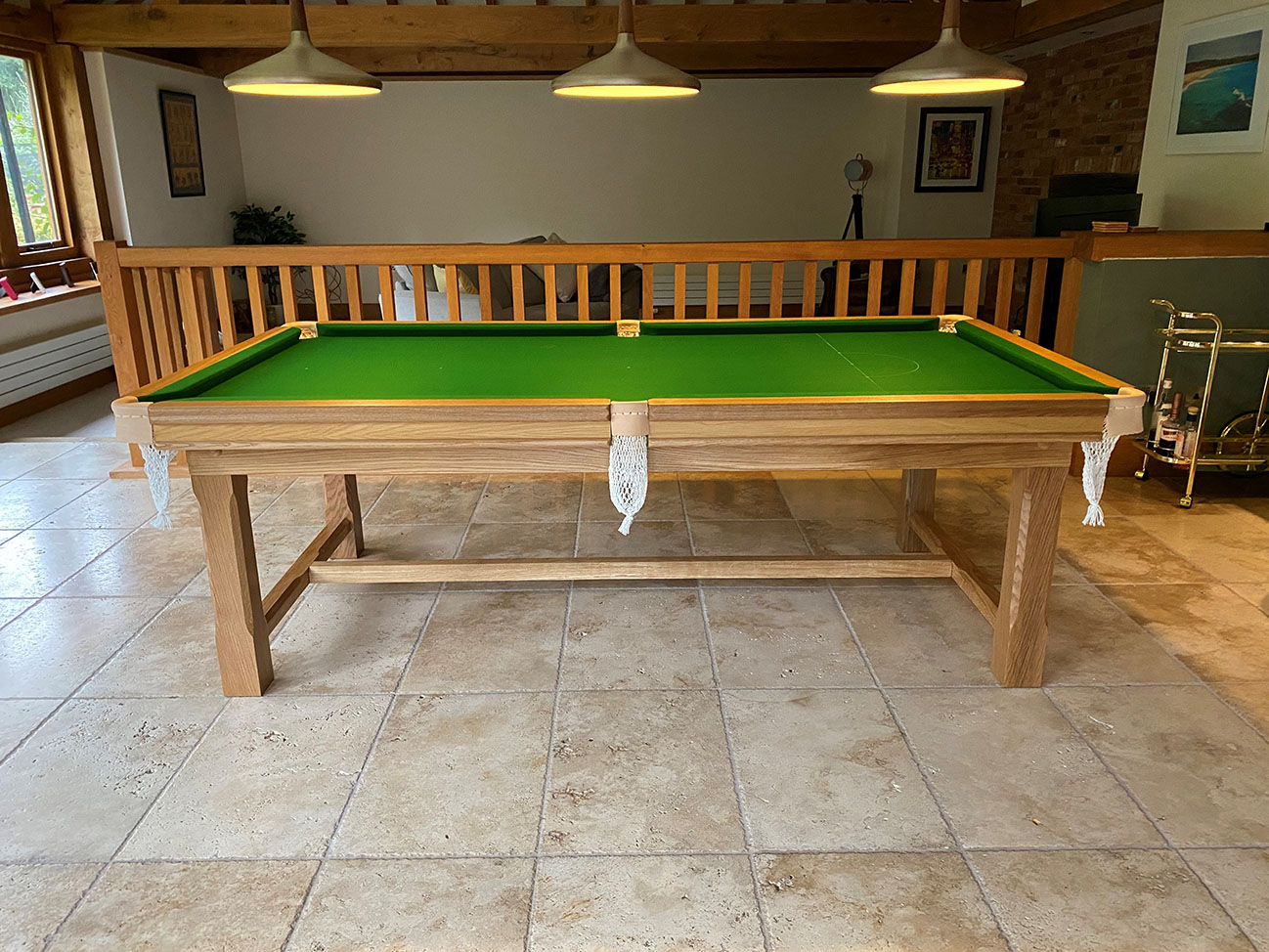 Farmhouse 7ft Snooker Dining Table Made Of Oak View · View