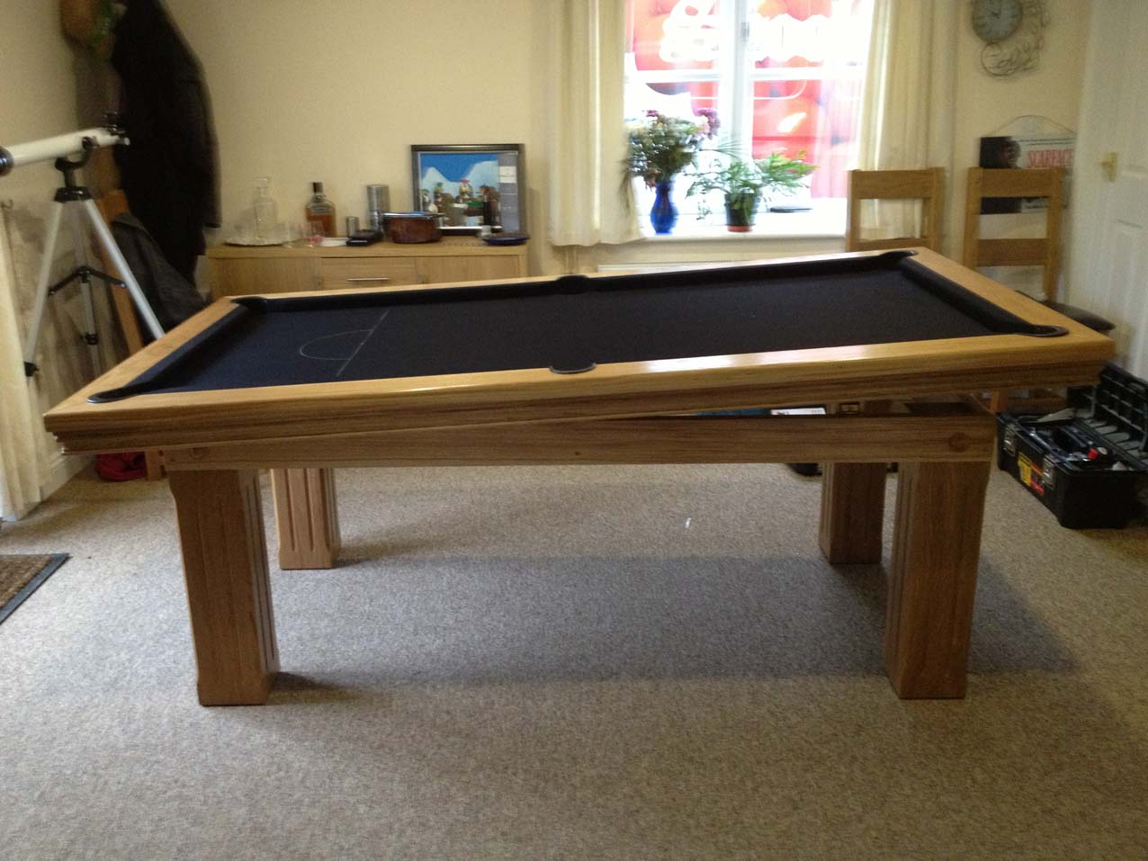 Pool dining table in oak black snooker pool tables Pool dining table