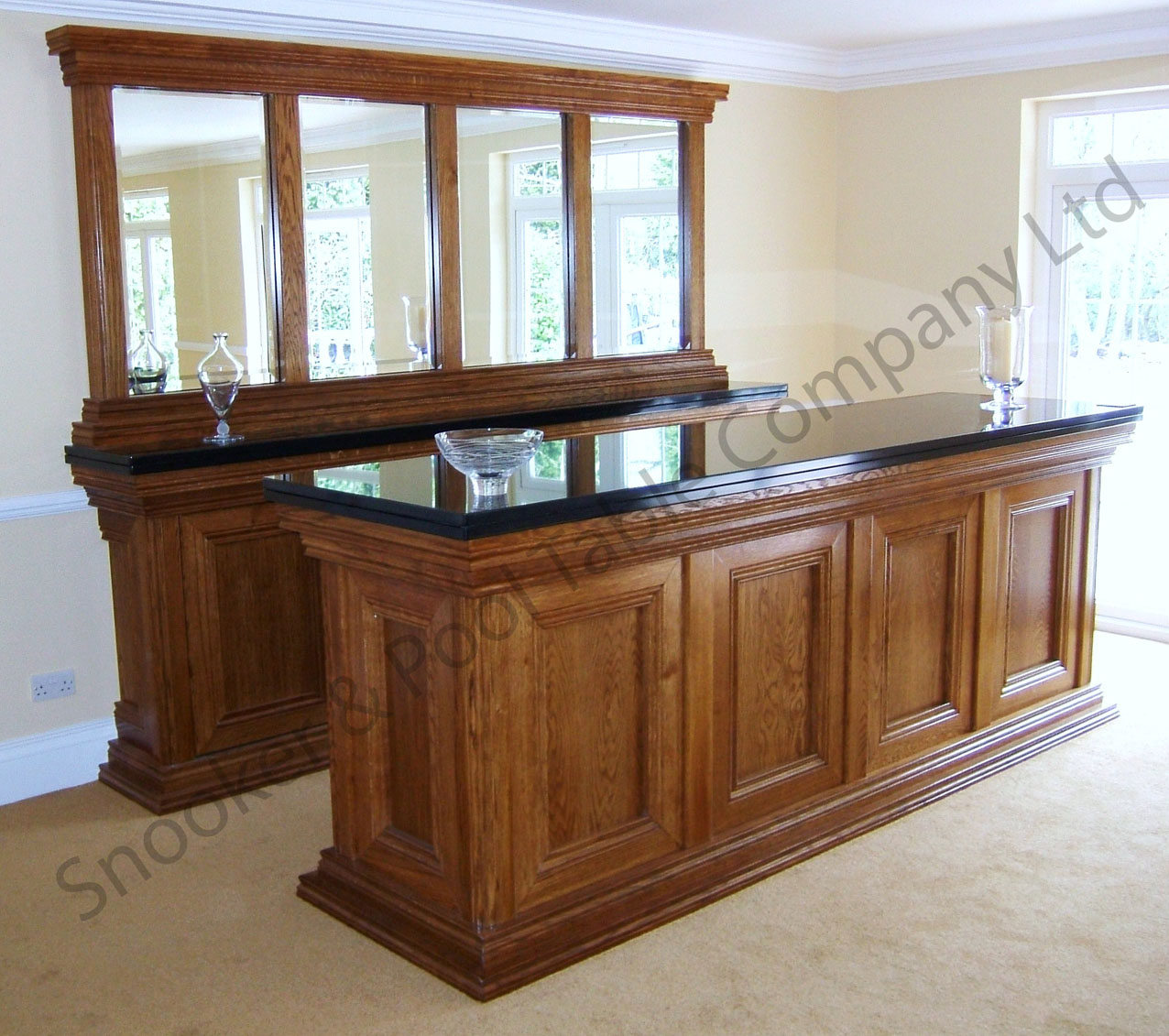 Traditional Wooden Home Bars - Snooker & Pool Company