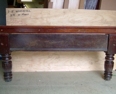 Full Size THURSTON Snooker Table - Turned Fluted Leg
