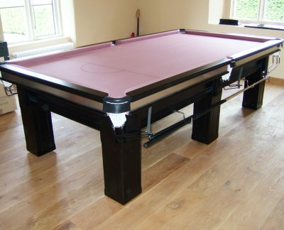 "Connoisseur 9' x 4'6"" Snooker Table with Inserts and Square Legs"
