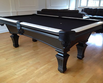 Olhausen Augusta Pool Table in Black / White Finish