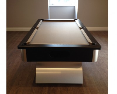 Arched Contemporary English Pool Table - Taupe Cloth