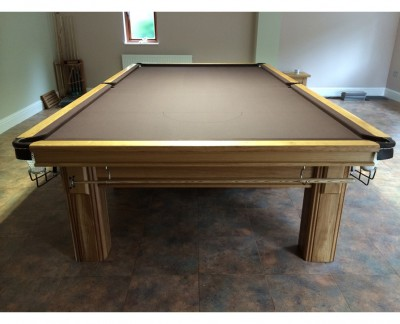 Connoisseur 12' x 6' Snooker Table - Oak with Square Legs
