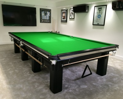 Connoisseur 12' x 6' Snooker Table in Black with Green Cloth