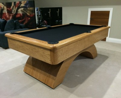 Olhausen Waterfall Pool Table in American Oak - American Pool Table