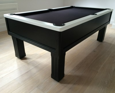 Emperor English Pool Table in Black / White