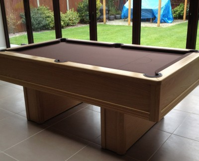 Emperor English Pool Table in Oak with Table Tennis Conversation Kit