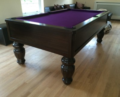 Emperor English Pool Table - Fluted Barrel Leg