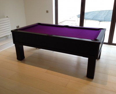 Emperor English Pool Table in Black / Purple Cloth