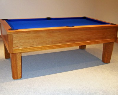 Emperor English Pool Table in Light Golden Oak finish