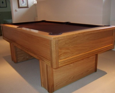 Emperor English Pool Table in Oak with Nutmeg Cloth