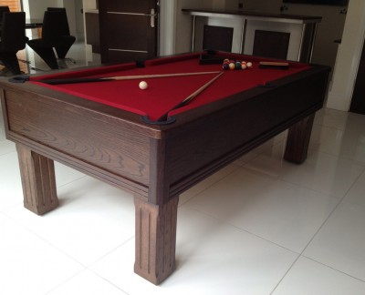 Emperor English Pool Table with Connoisseur Modern Bar