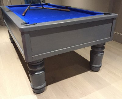 "Emperor English Pool Table with 8"" leg - grey finish"