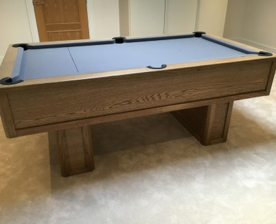 Emperor English Pool Table with pedestal legs - grey tint