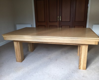 Pool Dining Table - 7ft Oak / Blue