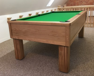 Emperor English Pool Table in Oak with Square Leg
