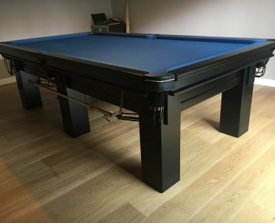 "Connoisseur 9' x 4' 6"" Snooker Table in Black with Slate cloth"