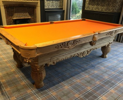 Olhausen St Andrews Pool Table in Oak with Accessories Draw Option