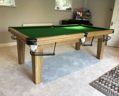 "Royal 7' x 3' 6"" Snooker Table with Tapered Legs and Green Cloth"