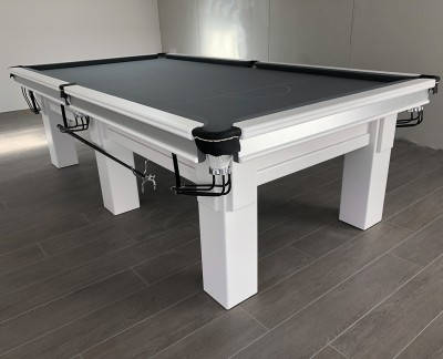 "Connoisseur 9' x 4'6"" Snooker Table in White"