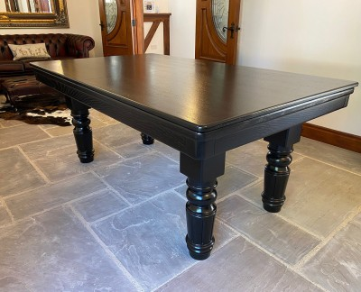 Pool Dining Table - 6ft Black / Red