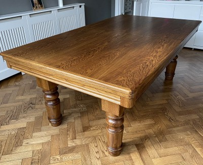 Pool Dining Table - 7ft Oak / Gold