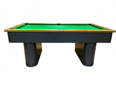 Pedestal Contemporary English Pool Table - Painted Finish