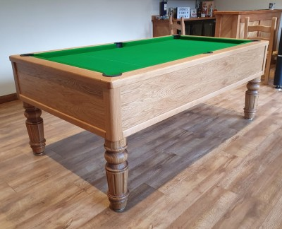 Emperor English Pool Table with Straight Turned Fluted Leg