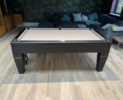 Duke English Pool Table - Full Tapered Leg with black stained matt finish